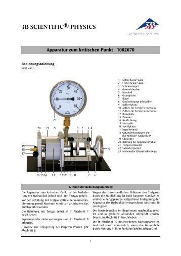 Apparatur zum kritischen Punkt 1002670 - 3B Scientific