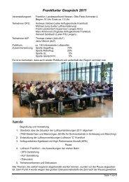 Bericht Frankfurter Gespräch 2011