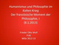 Humanismus und Philosophie im Kalten Krieg Der ... - Userpage