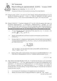 Massöverföring & separationsteknik (424302) Tentamen 200509