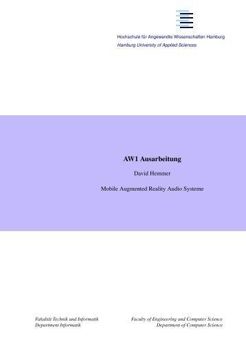 Kurzfassung - Persönliche Webseiten der Informatik - HAW Hamburg