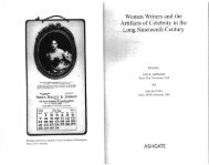 Women Writers and the Artifacts·ofCelebrity in the . Long Nineteenth ...