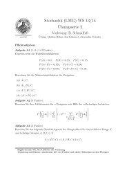 Stochastik (LMG) WS 13/14 Übungsserie 2