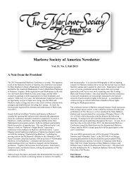 Marlowe Society of America Newsletter - IPFW