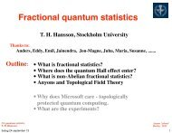 Fractional quantum statistics