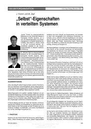"""""""Selbst""""-Eigenschaften in verteilten Systemen - KOBRA - Universität ..."""