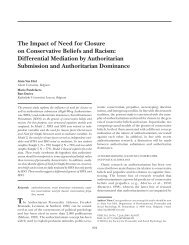 The Impact of Need for Closure on Conservative ... - Universiteit Gent
