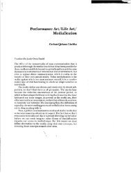 Performance Art/Life Art/ Mediafication - Vasulka,org