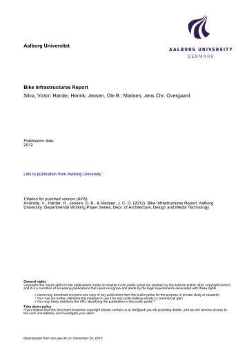 Aalborg Universitet Bike Infrastructures Report Silva, Victor ... - VBN