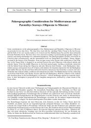 Palaeogeographic Considerations for Mediterranean and ...