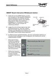 SMART Board interactive Whiteboard starten: - Verwaltung