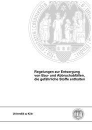 AL_131112_Regelungen_Bauabfall - Verwaltung - Universität zu Köln