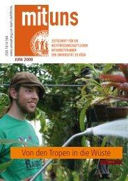 Von den Tropen in die Wüste - Verwaltung - Universität zu Köln