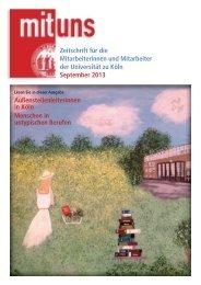 September 2013 - Verwaltung - Universität zu Köln