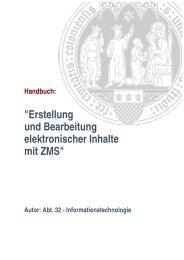 ZMS-Handbuch - Verwaltung - Universität zu Köln