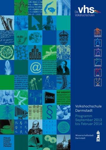 Volkshochschule Darmstadt Programm September ... - VHS Darmstadt