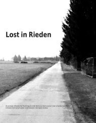 Lost in Rieden - Hinterland Magazin