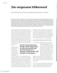 Der vergessene Völkermord - Hinterland Magazin