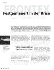 Festgemauert in der Krise - Hinterland Magazin