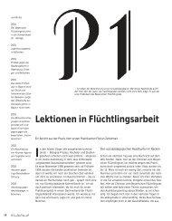 Lektionen in Flüchtlingsarbeit - Hinterland Magazin