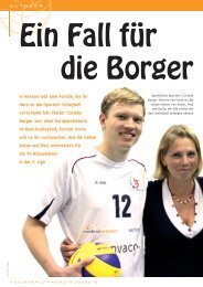 Mutter Cordula Borger war einst Europameist - Volleyball-Magazin