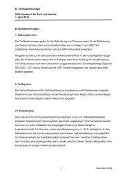 B. Tarifbestimmungen VRR-Handbuch für Tarif und Vertrieb 1. April ...