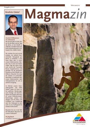 MAGMAzin, Vulkanpark-Gästezeitung, Herbstausgabe