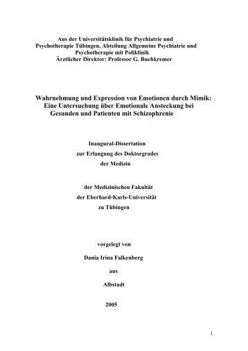 Wahrnehmung und Expression von Emotionen durch Mimik: Eine ...
