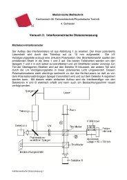 Versuch 3: Interferometrische Distanzmessung