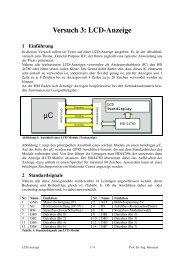 Versuch 3: LCD-Anzeige µC