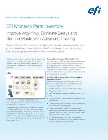 efi monarch planner transactional workflow