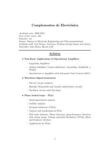Complementos de Electrónica