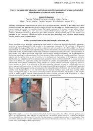 Energy exchange vibrations in a multi-beam metallic/composite ...