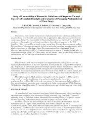 Study of Photostability of Finasteride, Diclofenac and ... - La Sapienza
