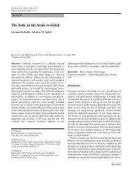The body in the brain revisited - La Sapienza