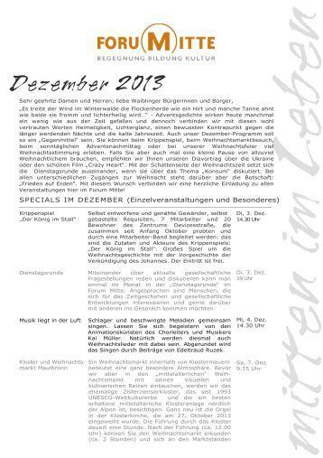 Das Programm im Dezember 2013 - Stadt Waiblingen
