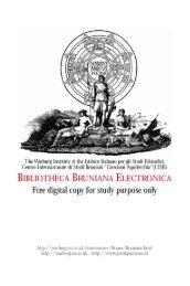 BIBLIOTHECA BRUNIANA ELECTRONICA - Warburg Institute