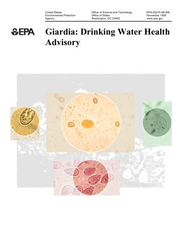 Giardia: Drinking Water Health Advisory - Water - US Environmental ...