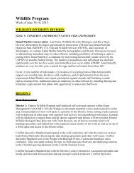 June 10 - Washington Department of Fish & Wildlife