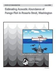 Estimating Acoustic Abundance of Pelagic Forage in Rosario Strait ...