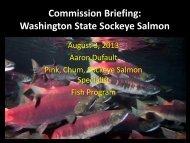 Presentation - Washington Department of Fish & Wildlife