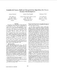 Scalable 2d Convex Hull and Trianglulation Algorithms for Coarse ...