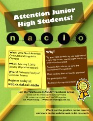 Attention Junior High Students! - Faculty of Computer Science
