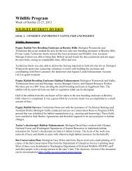 October 21 - Washington Department of Fish & Wildlife