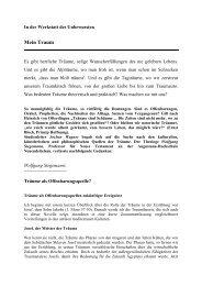 Mein Traum - Evangelische Akademie Tutzing