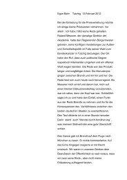 Egon Bahr Tutzing 13.Februar 2012 Bei der Einladung für die ...