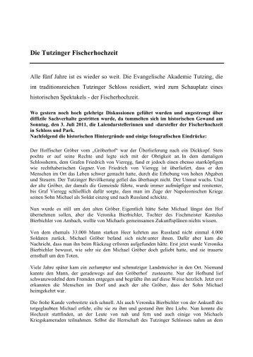 historischen Hintergründe - Evangelische Akademie Tutzing