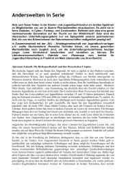 Anderswelten in Serie - Evangelische Akademie Tutzing