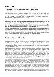 Der Tanz - Evangelische Akademie Tutzing