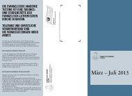 März – Juli 2013 - Evangelische Akademie Tutzing